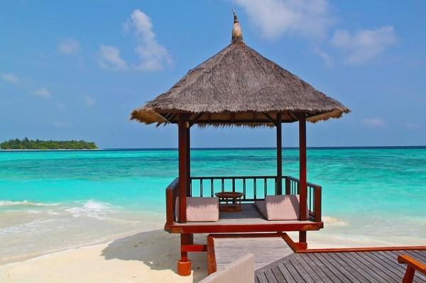 beach hut beach vacation holidays sand sea