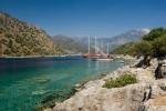 A coastal scene at Gemiler Island, near Fethiye