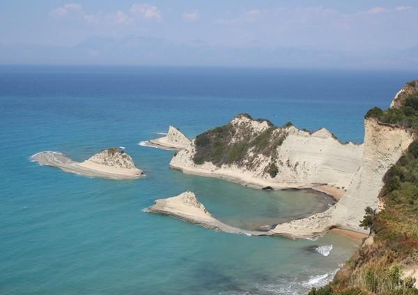 Corfu, landmarks at Cape Drastis