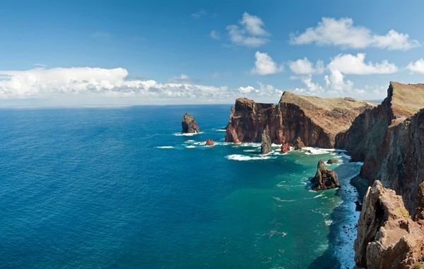 Madeira Beautiful landscape at the north coast of Ponta de Sao Lourenco