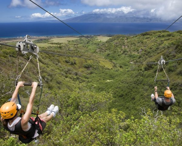Zip lining in Hawaii